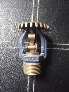 Fire Sprinkler - Rasco G-64, Brass mm SSU 141c 286f 1999 NOS