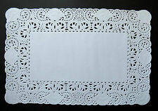 "BELLA..EMBOSSED WHITE PAPER LACE TRAY DOILIES/BUNTINGS X 12"" X 7.75"" x 24"