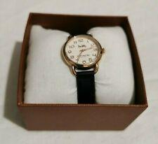 COACH WOMEN Delancey Navy Leather Watch 14502749 NWT