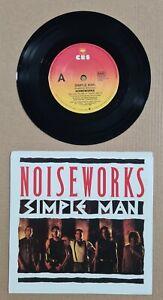 """NOISEWORKS (JON STEVENS) - SIMPLE MAN / LETTER - 7"""" 45 VINYL RECORD PIC SLV 1988"""