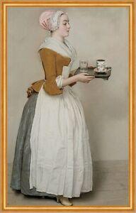 Das Schokoladenmädchen Jean-Etienne Liotard Kakao B A2 02515 Gerahmt