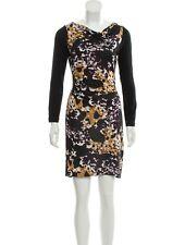 DIANE VON FURSTENBERG $500 Kirby 100% Long Sleeve Floral Silk Dress Size XS US 2