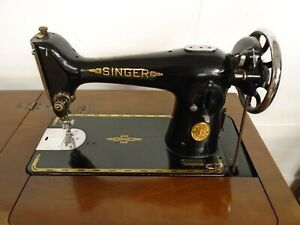 Vintage Singer Treadle Sewing Machine EF727429 w Table Cabinet Retro - CIS D40