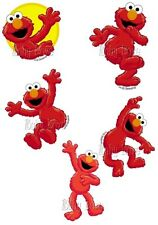IRON ON 5 X ELMO INDIVIDUAL TRANSFERS APPROX 6CM TALL