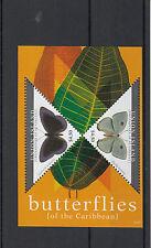 Union Island Grenadines St Vincent 2011 MNH Butterflies of Carribean 2v Sheet II