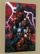 Ltd Ed COA Marvel Comics New Avengers #1 Canvas Wall Art 18x27 Gallery Wrapped