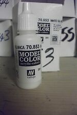 BIANCO SMALTO Vallejo acrilico modello Hobby Pittura 17ml BOTTIGLIA val853