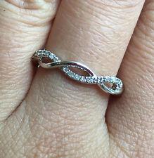 10k White Gold Natural Diamond Anniversary Ring Guard Enhancer Wedding Band