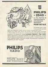 W0407 Radio Philips 2540 - Pubblicità 1930 - Advertising