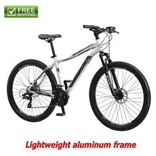 "Schwinn Mountain Bike Men 27.5"" Silver Shimano Aluminum Frame Bicycle Disc Brake"
