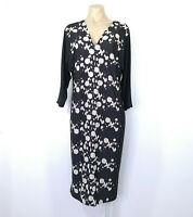 LEINA BROUGHTON Size 16 Dress Stretch V-Neck 3/4 Sleeve