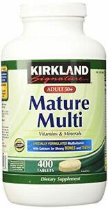 Kirkland Signature Mature Adult Multi Vitamin Tablets - 400 ct