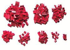 290 Lego System Dachsteine rot 45 °  in 8 unterschiedlichen Größen