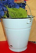 Blue French Style Enamel Flower Gardening Gathering Bucket / Pail