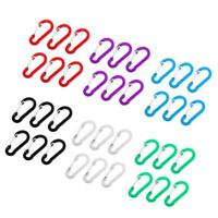 6x Aluminum Carabiner D-Ring Key Chain Clip Snap Hook Outdoor Camping Buckle