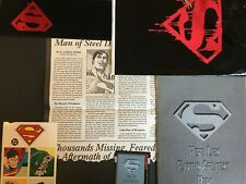 SUPERMAN 75. MEMORIAL SET.  COMPLETE WITH POSTER. SPLASH COVER. STAMPS. ORITURY