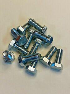 "5/16""-24 X 3/4 Fine Thread Hex Cap Screw Bolt Fastener Grade 5 Zinc SAE (50)"