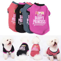 Pet Dog Clothes Winter Warm Sweater Coats Soft Printed Puppy Chihuahua Costume