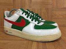 RARE🔥 Nike Air Force 1 Premium MEXICO World Cup Sz 11 309096-162 White Pine Red