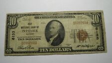 $10 1929 Ivesdale Illinois IL National Currency Bank Note Bill Ch. #6133 FINE!