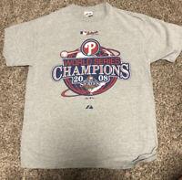 Majestic MLB Authentic World Series 2008 Champions Phillies Baseball Shirt L