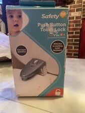 Safety 1st Push Button Toilet Lock. New In Box.