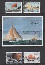 DOMINICA 1998 SAILING SHIPS SET (x4) & MINI SHEET MINT (ID:779/D52586)