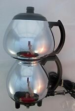 Vintage Sunbeam C30A Vacuum CoffeeMaster Chrome Coffee Maker Working