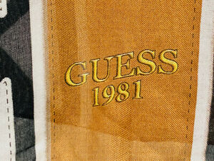 GUESS 1981 BRAND NEW SCARF FABULOUS DESIGN & COLOURS WITH TAGS