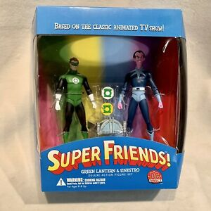SEALED Super Friends GREEN LANTERN & SINESTRO Deluxe Action Figures by DC Direct