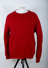 P323/48 M&S Collection Crew Neck Extrafine Lambswool Red Rouge Jumper L 41-43 in
