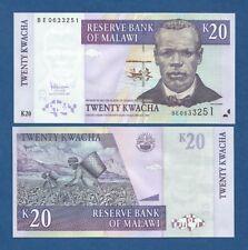 MALAWI -- 20 KWACHA ( 2007 ) -- UNC -- PICK 52d .