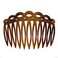 Tort Brown Looped Side Hair Combs Slides Clips Hair Accessories
