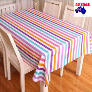 Thick Quality 137x200cm Rectangle Plastic Vinyl TableCloth Cover Oil Resistant