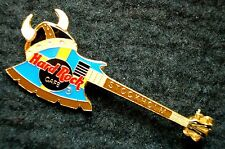 HRC Hard Rock Cafe STOCKHOLM FLAG Colored Kiss Axe Bass Viking Tête casquée le
