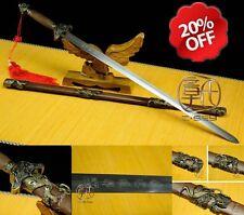 High quality Chinese sword han jian  sharp blades Carbon steels #009