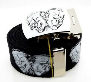 Smile Now Cry Later Belt & Buckle Chicano Tattoo Art Rap Cholo Military Rare