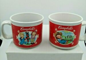 2 Campbell's Soup Company 2002 Collectible Soup Mugs M'm! M'm! Good 4 Scenes