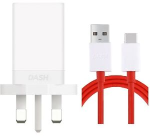 Oneplus Dash Power Adapter UK Wall Charger Power Adapter Plug + Cable Type C