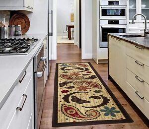 """Kitchen Runner Rugs 20""""X59"""" Area Floor Rug Non-Slip Rubber Back washable Carpet"""