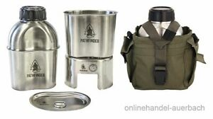 PATHFINDER Edelstahl Canteen Cooking Set Kochset Feldflasche  Outdoor Survival