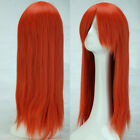 Hot Brown Blonde Ombre Synthetic Full Wig Straight Long Full Thick Women'S Wigs