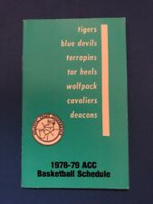 ACC Atlantic Coast Conference Basketball 1978-79 Pocket Schedule