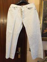 """LEVIS 501 Blanco Pantalon Vaquero Cotton """"Talla 44 cm Algodon"""