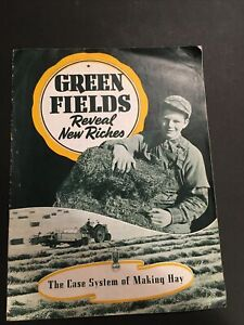 """RARE 1940's CASE TRACTOR """"GREEN FIELDS"""" MAKING HAY 16-PAGE BROCHURE"""