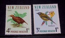 NEW ZEALAND  1966 HEALTH STAMPS BIRDS SET OF 2 FINE M/N/H