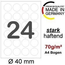 Universal Etiketten 40 mm rund 2400 Papieretiketten weiß selbstklebend 100 Bl