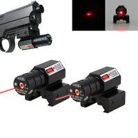 1//2xRed Green Laser Beam Dot Sight Scope Tactical for Gun Pistol Picatinny Mount
