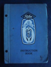 RILEY ALPINE  (SIX) - Car Handbook / Instruction Book - Undated