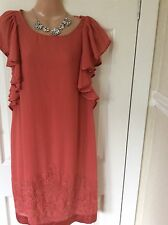 Rare Monsoon Dress With Beading Detail Size 12 Vgc Hols 19/7 To 26/7